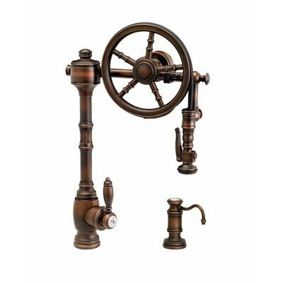 Waterstone The Wheel Pull Down Single Handle Kitchen Faucet With
