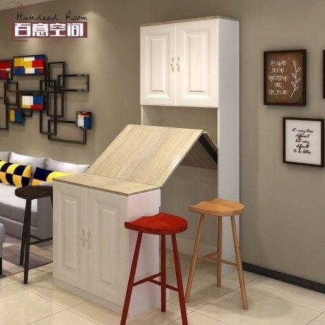 47 Fabulous Folding Wall Table Ideas That Saving Space Kitchen