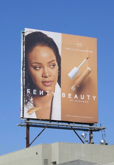 Rihanna Fenty fashion and beauty billboards...