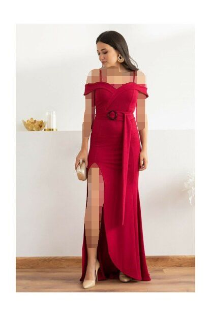 برند لباس مجلسی ترک Teknur One Shoulder Formal Dress Dresses One Shoulder Dress