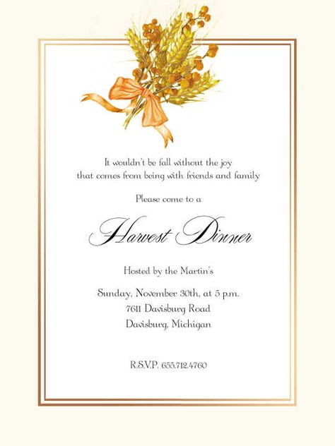 harvest cocktail party decorations Fall Party Activities Ideas - inauguration invitation card sample