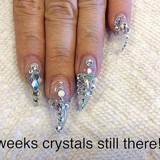 4 Weeks New Growth Duck Feet Nails Feet Nails Nail Growth