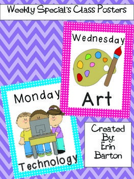 Weekly Special's Class Posters