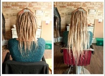 45++ Loc extensions on short hair trends