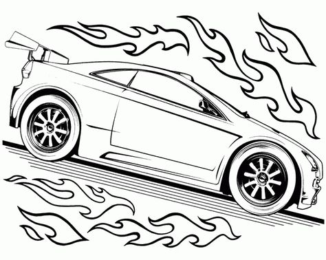 Good Looking Car Hot Wheels Coloring Page Kids Coloring Pages - best of crayola mini coloring pages cars