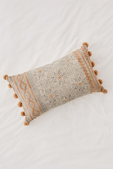 Chloe Lattice Bolster Pillow | Pillows