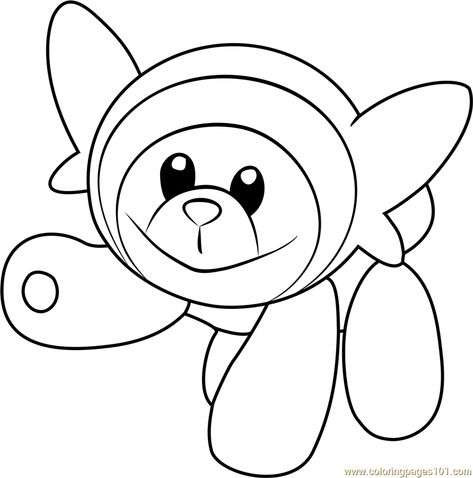Stufful Pokemon Sun And Moon Coloring Page Moon Coloring Pages