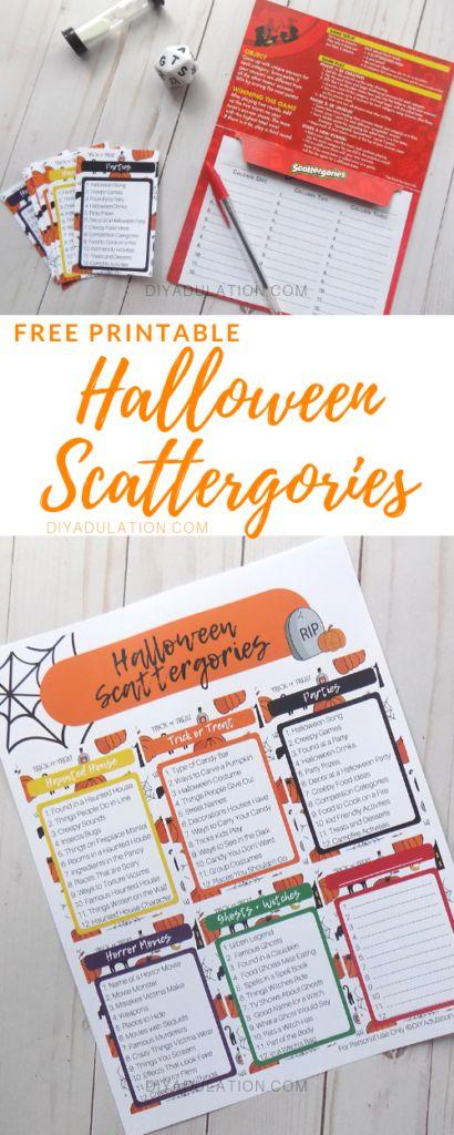 Photo of Free Printable Halloween Scattergories Game – DIY Adulation