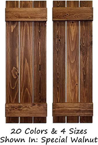 Buy Board Batten Shutters Farmhouse Shutters Wood Shutters Wall Decor Interior Window Shutters Rustic Decor 20 Colors 4 Sizes Shown Special Walnut O In 2020 Wood Shutters Shutter Wall Decor Interior Window Shutters