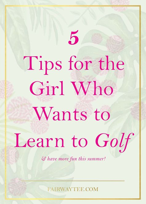 Golf can seem terribly intimidating; too many rules, etiquette and so many clubs! Here are my top 5 tips for the girl who wants to learn golf. Learn More. Abby Wambach, Aly Raisman, Aaron Rodgers, Alex Morgan, Arsenal Fc, Ac Milan, Alabama Football, Alabama Crimson Tide, Atlanta Braves