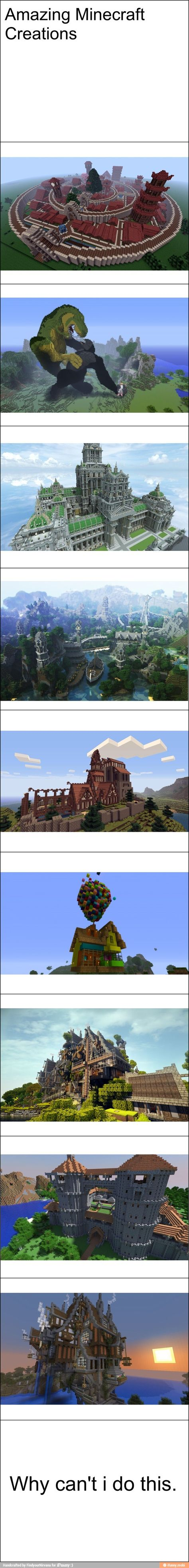 Awesome Minecraft creations. / iFunny :)