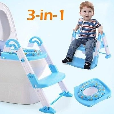 3 In 1 Baby Potty Training Toilet Chair Seat Step Ladder Trainer