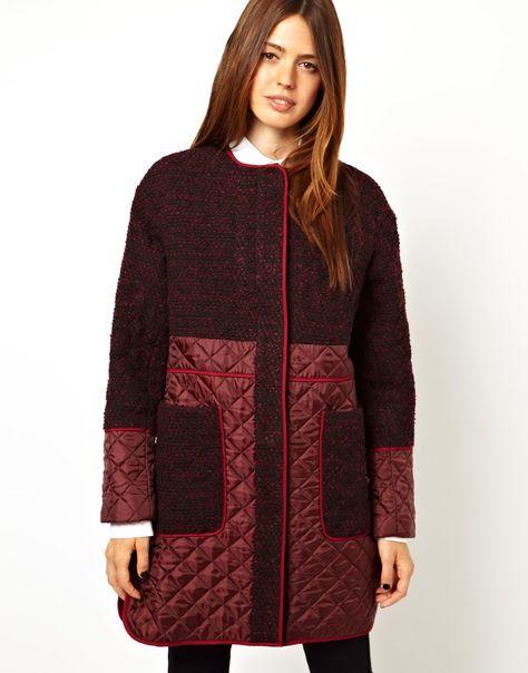 Женское стеганое пальто 2017 (100 фото)  стильные фасоны 9f58bc5c07480