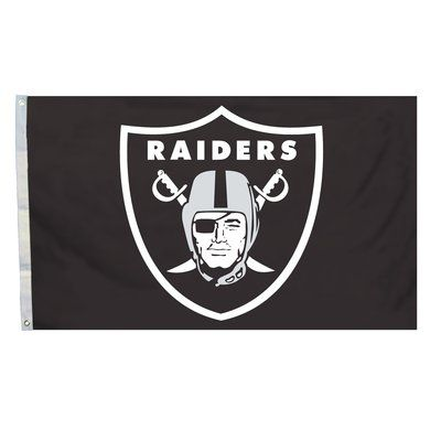 Team Pro-Mark NFL Jumbo Polyester 4 x 6 ft. Flag NFL Team: Oakland Raiders