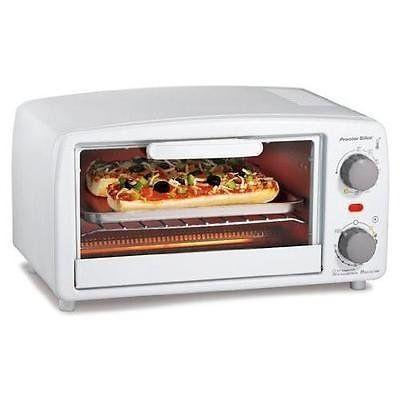 Proctor Silex 4 Slice Toaster Oven White New Review Toaster Oven Reviews Toaster Toaster Oven