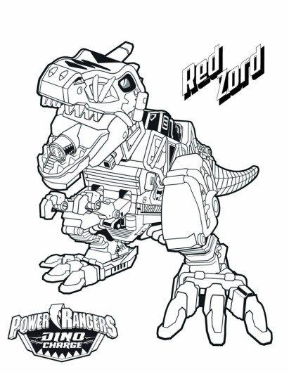 Power Ranger Dino Charge Coloring Pages Buku Mewarnai Sketsa Warna