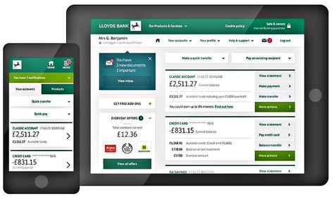 Lloyds Simplifies Online Mobile Banking Drives Customer