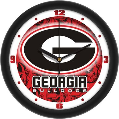 University of Georgia Bulldogs G Logo Round 12 inch Wall Clock