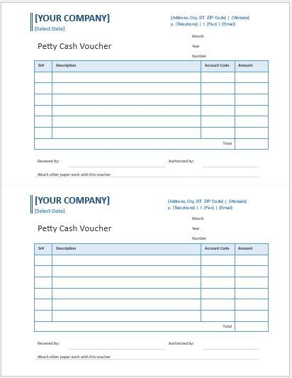 9 Petty Cash Templates Word Excel Pdf Templates Voucher Voucher Template Free Cash