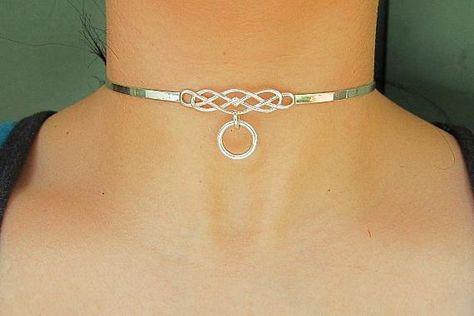 Dungeon Restraint Wear Faux Leather O Ring Pendant Punk Necklace Collar Choker