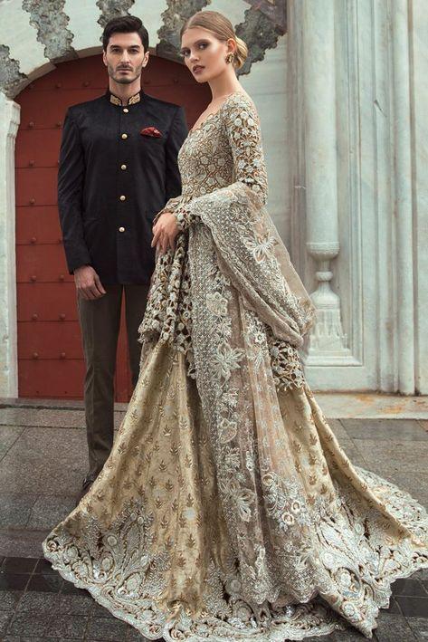 Sania Maskatiya Wedding Dresses 2018 in Peplum Style Buy in Canada