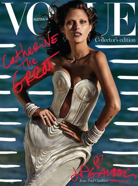 Catherine McNeil by Gilles Bensimon for Vogue Australia October 2014