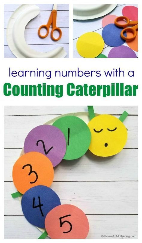 Learning Numbers with a Counting Caterpillar Craft for Kids Learning Numbers for Toddlers Math Crafts, Daycare Crafts, Toddler Crafts, Preschool Activities, Counting Activities, Number Activities, Free Preschool, Math Games, Learning Numbers Preschool