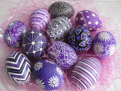 Pysanky (Ukrainian technique using beeswax and special tools) Not easy...but so beautiful!