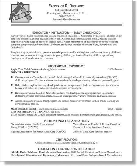 Ma Resumes Examples | template | Teaching resume examples, Teaching ...