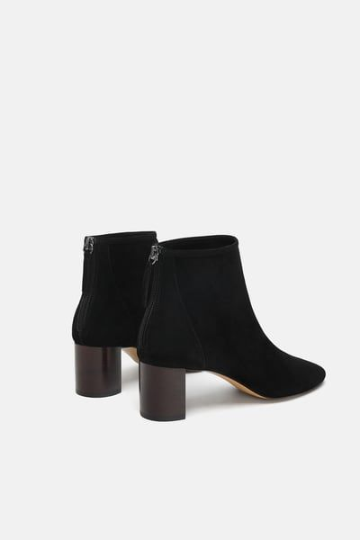 Leather high heel ankle boot in 2020 | Mid heel ankle boots