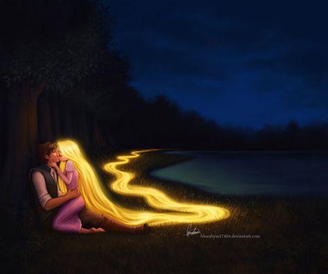Follow the yellow long hair. Not the yellow brick road.
