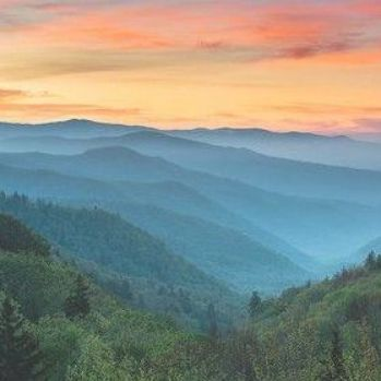 Smoky Mountains Sunrise Great Smoky Mountains National Park By Dave Allen Smoky Mountains Photography Mountain Landscape Photography Sunrise Painting