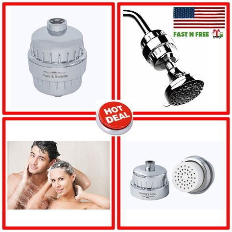 Universal Shower Head Filter Water Softener For Hard Water