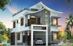 Modern House Plans With View With Mansard Roof House Design And Solid Wood House Front Doors Kerala House Design House Roof Design Duplex House Design