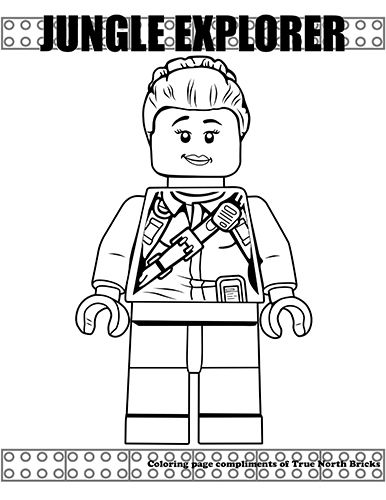 Coloring Page Female Jungle Explorer Lego Coloring Pages Lego