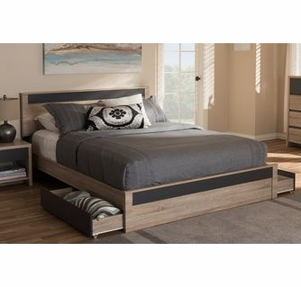 Baxton Studio Jamie Modern And Contemporary Two Tone Oak And Grey