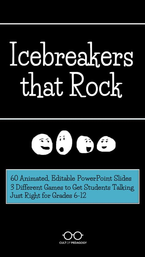 Build Classroom Culture with these Rockin' Icebreakers