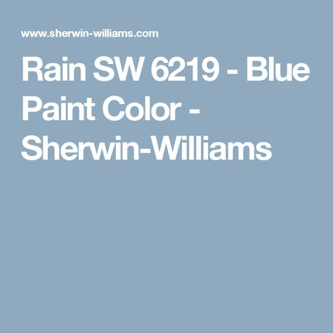 Rain Sw 6219 Blue Paint Color Sherwin Williams Bath