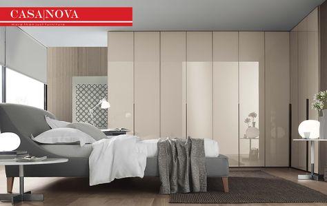 Plain Or Satinated Glass Door Bronze Aluminium Profile And Handle