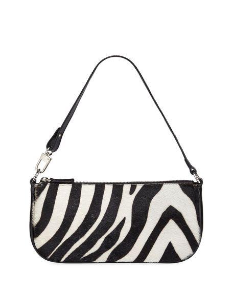 Far Rachel Zebra Calf Hair Shoulder Bag