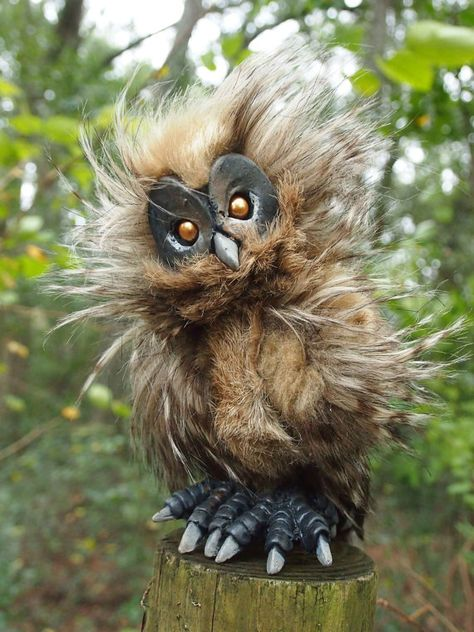 Baby Owl by Gaffanon on Etsy, $84.00