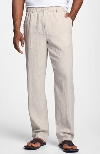 e54cdaadd Tommy Bahama 'New Linen on the Beach' Easy Fit Pants available at #Nordstrom  | yoga | Beach pants, Linen beach pants, Mens beach pants