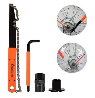 MTB Bike Bicycle Cassette Freewheel Chain Whip Sprocket Lock Remover Tool Kit
