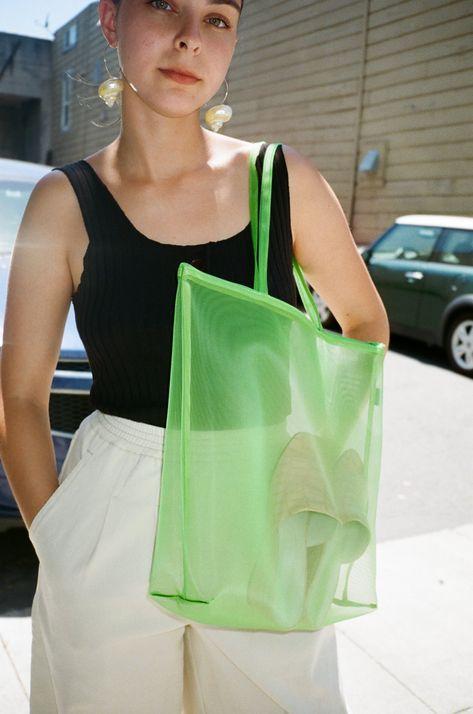 Zip Tote - Green - Lisa Says Gah