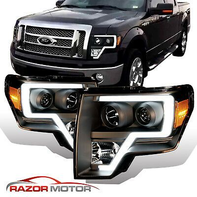 2009 14 Black Headlights Pair For Ford F150 Led Bar Driver And Passenger Ford F150 Accessories Truck Accessories Ford Ford Trucks F150