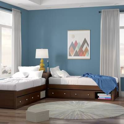 Three Posts Baby Kids Granville Twin Platform Bed With Trundle And Drawers Reviews Wayfair Corner Twin Beds Kid Beds Twin Platform Bed