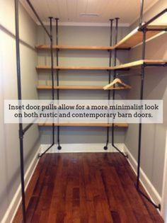 Barndoor Hardware. U in 2020 | Wood closet shelves, Closet