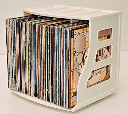 Stackable Vinyl Record Storage Crate Lp Album Holder 12x12 Paper Storage Ring Binder Rack Display Stand Shelf Deskt Vinyl Record Storage Record Storage Storage