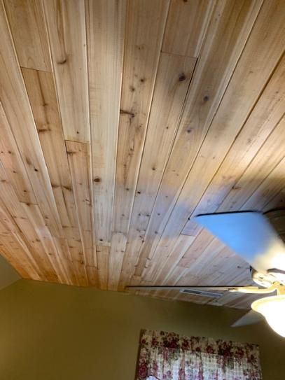 1 4 In X 3 5 In X 96 In Western Cedar Planks 6 Pack 14 Sq Ft 8203015 The Home Depot Wood Plank Ceiling Cedar Planks Wood Paneling Decor