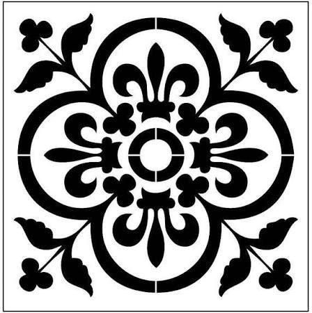 Square 8 Inch Stencil Designs Google Search Tile Stencil Stencils Wall Stenciled Wall Decor